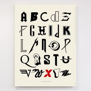 Dorothy: Alphabet of Rock Screen Print Poster