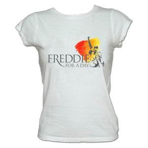 Freddie For A Day: Freddie For A Day Logo Ladies White T-Shirt