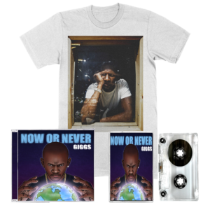 Giggs: Now Or Never: CD, Cassette, White Studio Tee + Signed Artcard