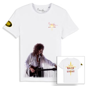 Brian May: Back To The Light Front / Back Print White