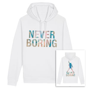 Freddie Mercury: Never Boring White Hoodie