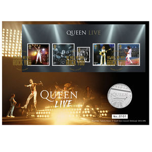 Queen: Queen Live Limited Edition Brilliant Uncirculated Coin Cover