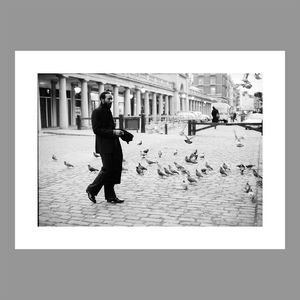 Motown: Marvin Gaye: Searching For Solace Black and White A3 Photo Print