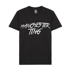 I Play Dirty: Manchester Ting Black T-shirt