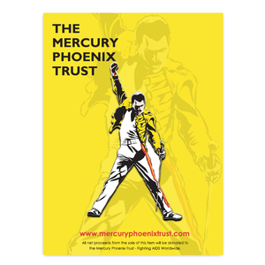 Freddie For A Day: Official Mercury Phoenix Trust Pin Badge