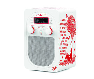 Pure: Evoke D2 with Bluetooth by Rob Ryan (White/Red)