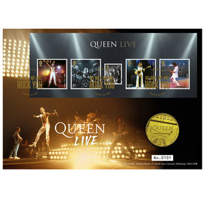 Queen: Queen Live Limited Edition Gold Proof Coin Cover