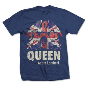 Queen + Adam Lambert: Queen + Adam Lambert Union Jack Navy T-Shirt