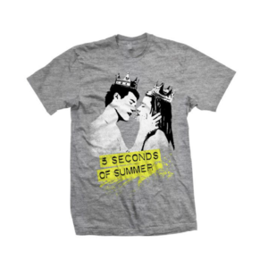 5 Seconds of Summer: Kissing Grey T-Shirt
