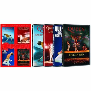 Queen: Live at Wembley Stadium – 25th Anniversary Edition / Rock Montreal / Live In Rio / On Fire: Live at the Bowl