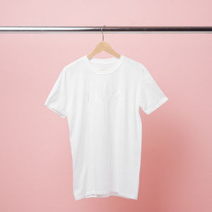 The 1975: White Embroidered T-Shirt