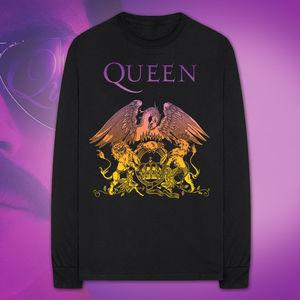 Queen: Gradient Crest Longsleeve