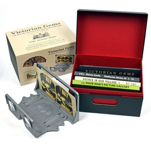 London Stereoscopic Company: Victorian Gems Nest: Storage Box + Platinum OWL + 3 Stereo Card Sets (36 Cards)