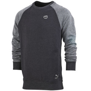 Professor Green: Contrast Crew Black + Medium Grey Heather
