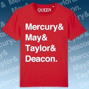 Queen: Names T-Shirt Red