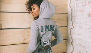 I Play Dirty: Womens Grey Hoodie