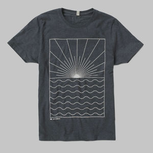 Ben Howard: BACKLIGHT WHITE LOGO T-SHIRT (HEATHER BLACK)
