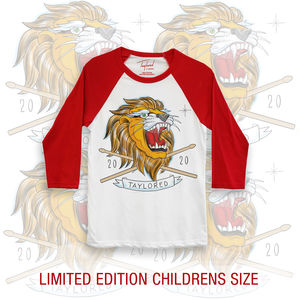 Roger Taylor: Taylored 2020 Lion Childrens Red Baseball Shirt