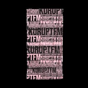 KURUPT FM: TRAVEL TOWEL (PINK/BLACK)