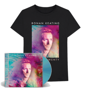 Ronan Keating: SIGNED Twenty Twenty CD & T-shirt bundle