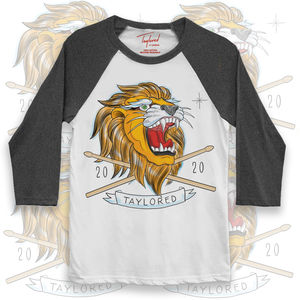 Roger Taylor: 'Taylored' 2020 Lion Grey Baseball Shirt