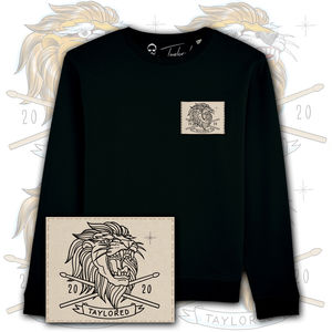 Roger Taylor: 'Taylored' 2020 Embroidered Lion Patch Sweatshirt