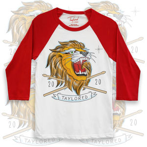 Roger Taylor: 'Taylored' 2020 Lion Red Baseball Shirt