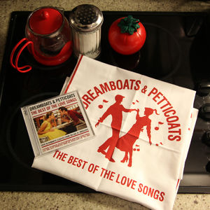 Dreamboats & Petticoats: The Best Of The love Songs Special Edition Commemorative Tea Towel and Album Package