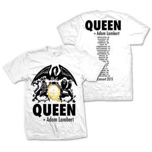 Queen + Adam Lambert: Queen + Adam Lambert Tour White T-Shirt