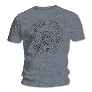 Mumford & Sons : Gun Seal T-shirt (Heather Navy Black Print)