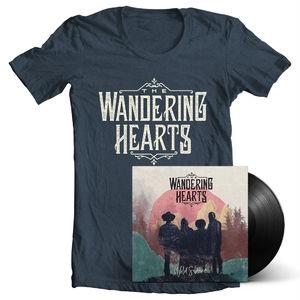 The Wandering Hearts: Wild Silence Single Vinyl w/ Gatefold Sleeve, Signed Insert & T-Shirt Bundle