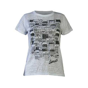 Amy Winehouse: Lioness Antique Radios Ladies Skinny Fit T-Shirt