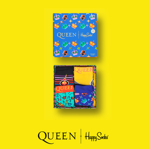 Queen: Happy Socks Kids Queen 4-Pack Gift Box