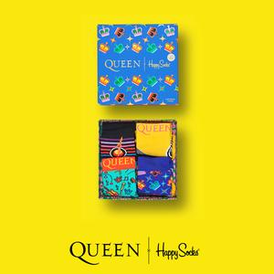 Queen: Happy Socks Kids Queen 4-Pack Gift Box