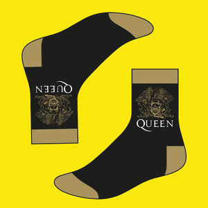 Queen: Queen Mens Gold Crest Socks