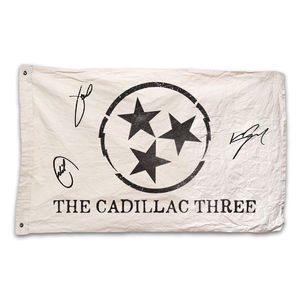 The Cadillac Three: Exclusive Signed TC3 Flag