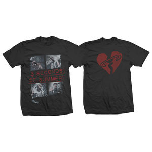 5 Seconds of Summer: Block Vintage Rock T-Shirt