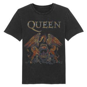 Queen: Washed Vintage Crest T-Shirt
