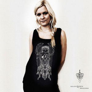 Queen: Manuela Gray Exclusive News Of The World Art Deco Tattoo Vest