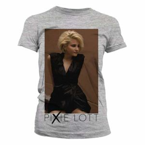 Pixie Lott: Black Dress Skinny Fit T-Shirt