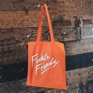 Fickle Friends: Orange Tote Bag