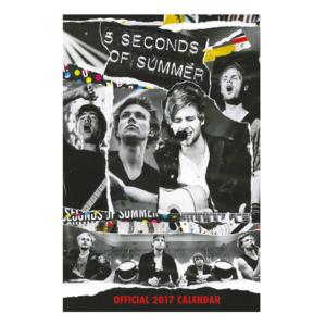 5 Seconds of Summer: Official 2017 A3 Calendar