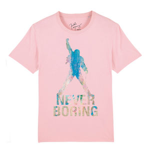 Freddie Mercury: Never Boring Pink Statue T-Shirt