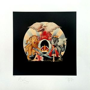Queen: A Day At The Races Fine Art Print Signed By Brian May And Roger Taylor