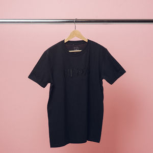 The 1975: Black Embroidered T-Shirt