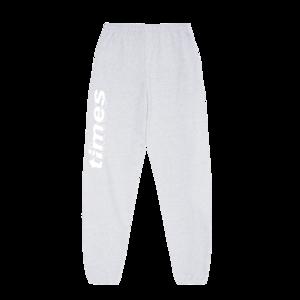 S.G. Lewis: times Text Logo Grey Sweatpants