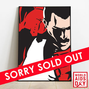 Freddie For A Day: Mercury Phoenix Trust Hand Numbered Collectors Art Print (Red Fred)