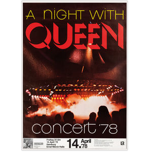 Queen: A Night With Queen Concert '78 Replica Collectors Poster