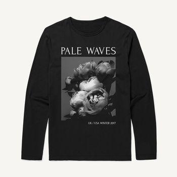 Pale Waves: 2017 Tour Flower Oversized Longsleeve Dateback Tee