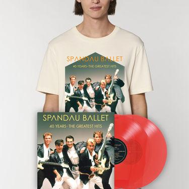 Spandau Ballet: 40 Years The Greatest Hits Vinyl & Tee